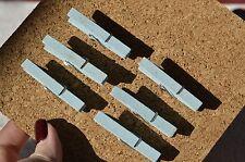 4x De Madera Magnético Memo Peg Set FRIDGE MAGNET Clips recordatorios lista de compras