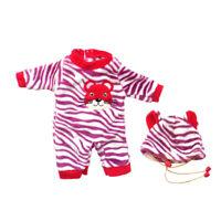 Cute Dolls Clothing Garment Lion Print Romper Jumpsuit Hat For 50cm Reborn Baby