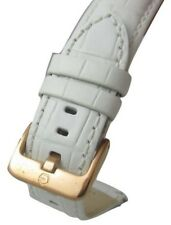 18mm Gruen Swiss White Croc Italian Genuine Leather Quick Watch Band Strap