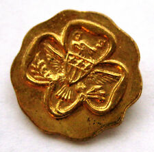 RARE Vintage 1927-1955 Girl Scout ASSOCIATE COMMITTEE PIN Gold Eagle Trefoil GS