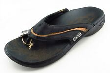 Sole Size 9 M Black Flip Flop Leather Men Shoes