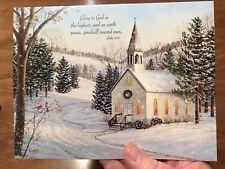 Lang 12 Christmas Cards Sam Timm Religious Church Snow Bible Verse Winter