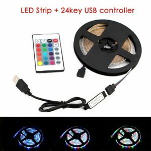 5V RGB LED Strip Light USB 5 V PC TV Backlight 2835 1 - 5 M 5 V Lamp Tape Diode