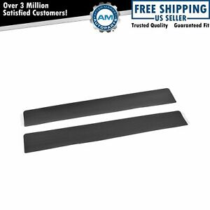 OEM Door Opening Sill Scuff Plate Charcoal Black LH or RH Pair Set for Ford F150