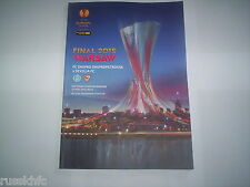 2015 UEFA EUROPA LEAGUE FINAL DNIPRO DNIPROPETROVSK V SEVILLA OFFICIAL PROGRAMME