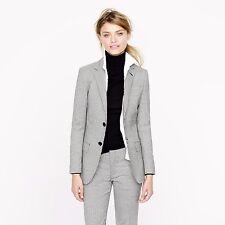 JCREW Women's Collection Ludlow jacket houndstooth Italian wool J Crew sz 0 $495