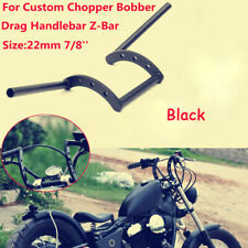 "Handle Bar Black Drag 7/8"" Z Bars Motorcycle Pullback Handlebars ForCafe Racer"