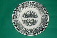 SARREGUEMINES assiette N° 10 chacun son métier les vaches sont bien garées 1849