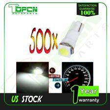 500Pcs T5 5050 1SMD Wedge Xenon White LED Light Bulbs 74 17 18 37 70 73 2721