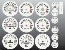 1970-1981 Chevrolet Camaro Dash Instrument Cluster White Face Gauges 70-81