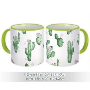 Gift Mug : Cactus Flower Pattern Cute Decor Trend Summer