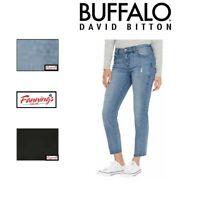 SALE Women's Buffalo JAYME Straight Leg Mid-Rise Raw Edge Vintage Denim Pant E11