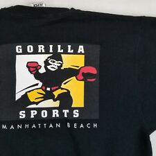 RARE Gorilla Sports Manhattan Beach Sweatshirt Black Gym Fitness Boxing Medium