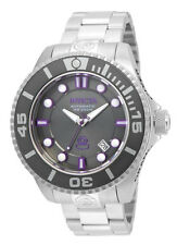 Invicta Pro Diver 19801 Men's Round Automatic Carbon Purple Analog Date Watch