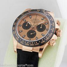 Rolex Cosmograph Daytona Rose Gold 116515 Pink Dial Everose Retail: $28,800