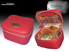 Samsonite Black Label Orologio in Pelle Donna scatola da viaggio Resort Rosso Autentico
