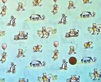 WINNIE THE POOH AND FRIENDS ON BLUE BACKGROUND - 100%COTTON FABRIC FQ'S
