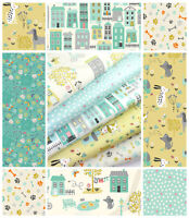 A Walk in the Park by Makower Quilting 100% Cotton Craft Fabric Dog pet fabric