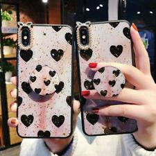 For Samsung S10+ Note9 Luxury Bling Diamond Love Glitter Holder Stand phone Case