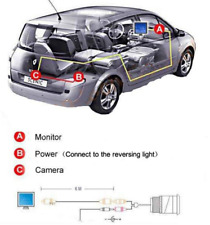 """7"""" TFT MONITOR LED coche trasera vista cámara de marcha atrás + Kit Para Camión Bus, Reino Unido Stock"""