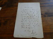 1860.Lettre  autographe.Garibaldi.Elisée Reclus