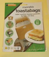 toastabags Reusable Toasted Sandwhich Toaster Bags Pack Of 2 New