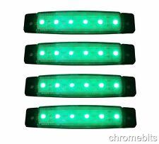 4 pezzi 12V LED VERDE Lampadina Luce posizione laterale Camion Rimorchio