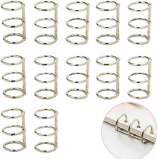 Luckycivia 12 Pcs Silver Book Rings 3 Holes Metal Loose Leaf Binder Rings Ring