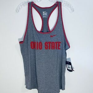 The Nike Tee Women's OHIO STATE Size XXL Gray/Red Tank Top