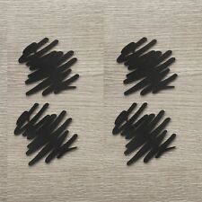 MoMA Scribble Coasters Design Scratch Set of 4 Silicone Black Creative Home YOY