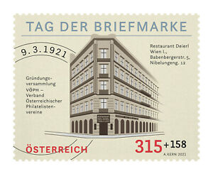 Austria 2021  National stampday  100yrs     mnh G