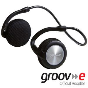 GROOV-E MOTION WIRELESS BLUETOOTH SPORT HEADPHONES W/ MIC - BLACK - GVBT300BK