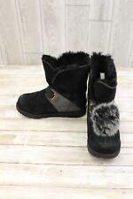 UGG Kids Isley Patent Waterproof Boots, Big Girl's Size 4, Black
