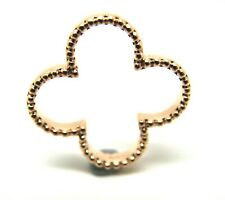 KAEDESIGNS NEW GENUINE SOLID 9CT ROSE GOLD FOUR LEAF CLOVER PENDANT