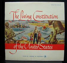 Robert Armbruster Marvin Miller Living Constitution Of United States LP VG+ 1961