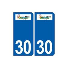 30 Saint-Martin-de-Valgalgues logo ville autocollant plaque stickers droits
