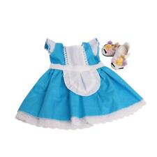 Dress Skirt Shirt Outfits Blue For Female 18 inches Dolls Doll Clothes