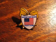 Desert Storm Lapel Pin - Vintage American Flag Yellow Ribbon Military Usa Pin
