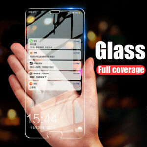 3PCS Full Coverage 9H Tempered Glass Screen Protector Cover For iPhone 7 Plus XR