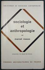 MAUSS - SOCIOLOGIE / ANTHROPOLOGIE - PUF- MAGIE, LE DON, ESQUIMAUX (Iglou.) 1968