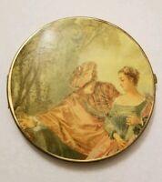 Vintage mirror compact w renaissance art