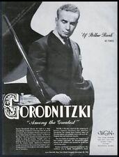 1942 Sascha Gorodnitzki photo piano recital tour booking trade print ad