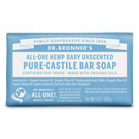 Dr. Bronner's Pure-Castile Bar Soap - Baby Unscented 140g Bronners