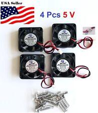 4 Pcs 5V 12V 24V 40mm Cooling Computer Fan 4010 40x40x10mm DC 3D Printer 2-Pin