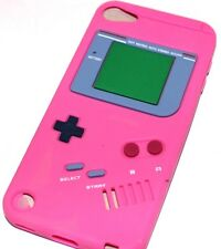 iPod Touch 5th 6th Gen - SOFT SILICONE RUBBER CASE COVER HOT PINK GAMEBOY PLAYER