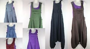 Alibaba Dungarees Baggy Jumpsuit Hippy Harem Pant Overall Strap Cargo Ethnic RP2