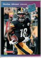 2019 Donruss Rated Rookie 1989 Instant #20 Diontae Johnson Pittsburgh Steelers