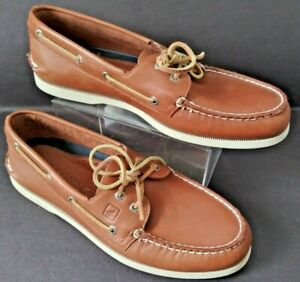 Sperry Top Sider Original Boat Tan Leather Shoes Men's Size 12M Style 61317 New