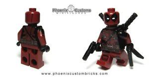 Custom Minifigure Deadpool V2 By Phoenix Customs Brick PC