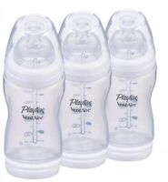 Playtex Baby Bottles VentAire Complete Tummy Comfort 9oz 3-Pack Baby Bottles New